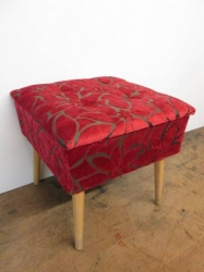 Vintage 50/60s Re-upholstered Sewing Box