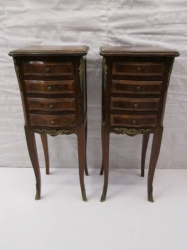 French Bedside/Lamp/Commode Tables