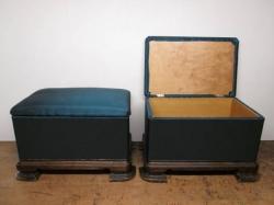 Pair of Art Deco Ottoman Stools