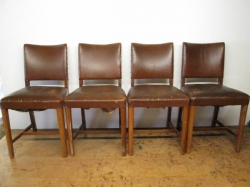Set of Four Art Deco Dining/Office/Desk Chairs