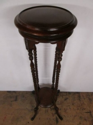 Solid Mahogany Torchiere Stand