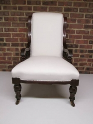 Late Victorian  Mahogany Scroll Back Chair
