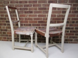Mid Century Shabby Chic Dining  Chairs c1960s