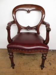 Solid Mahogany  Armchair/Desk Chair