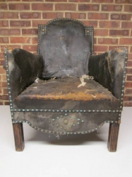 Victorian Studded Leather Armchair