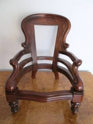 Miniature Victorian Style Grandfather Chair
