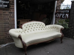 Mid Victorian Walnut Sofa