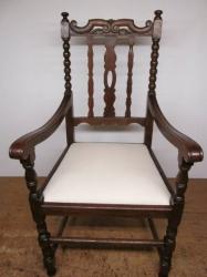 Early 20th Century Oak Armchair/Throne Chair