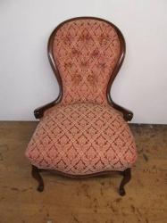 Cabriole legged Button Back Chair