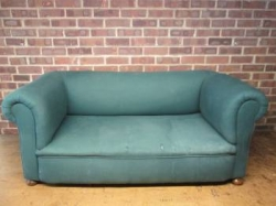 Late Victorian Drop-Arm Sofa