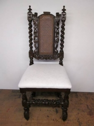 Antique Carolean Style Oak Chair