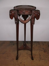 Hand Carved Torchiere Stand