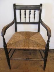Antique Rush Open Armchair