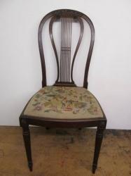 Mahogany Lyre back Chairs c1875