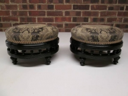 Pair of Victorian Ebonised Stools