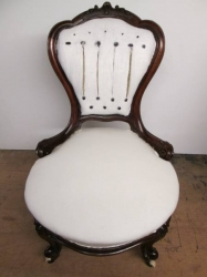 Victorian Walnut Button Backed Chair