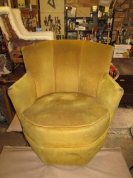 Art Deco Steel Framed Hexagon Chair