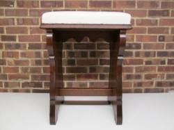 Early 20th Century Vintage Oak High Stool