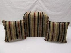 Stunning Velvet Striped Box & Cushions