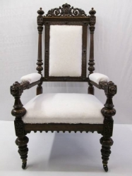 Antique Throne/Masonic Oak Armchair