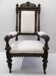 Antique Throne/Masonic Oak Armchair
