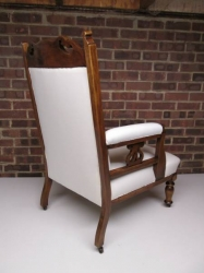 Matching Pair of Art Nouveau Armchairs