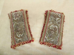 Antique Tapestery and Velvet Scatter Cushions