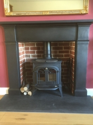 7.5kw Multi fuel cast iron stove