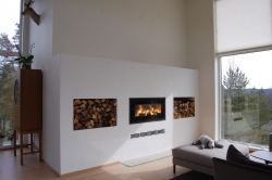 7kw wood burning stove Choose either a steel or glass door
