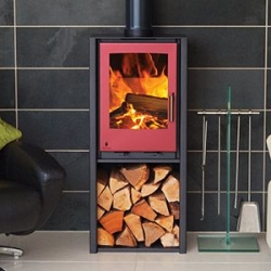4.9kw Multi Fuel stove with the choice of Anthracite or Grey stove body with 3 choices of stove door colour