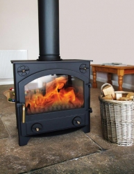 8kw double sided multi fuel stove
