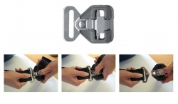 As STEEL buckles do NOT press release we recommend that all carers are shown how to release the buckle.