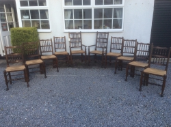 8 + 2 Country Dining Chairs