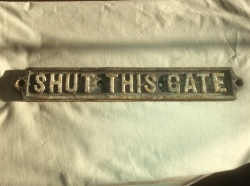 Heavy Duty Cast Iron Sign