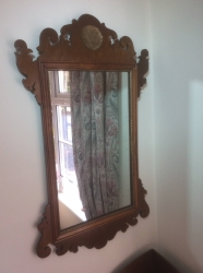 Geo III Style Walnut Mirror