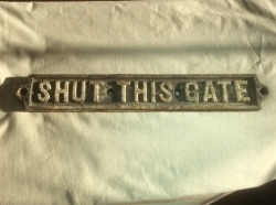 Heavy Duty Cast Iron Sign