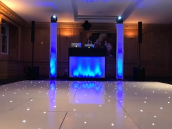 White LED Dance Floor installed in to Brocket Hall