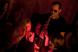 Our Gold disco includes our stunning saxophonist