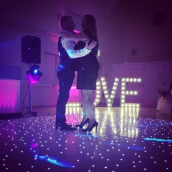 Our stunning Starlit Dance Floor transforms any room