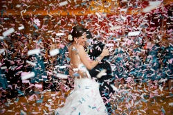 Confetti Cannon is a popular choice with our brides and grooms