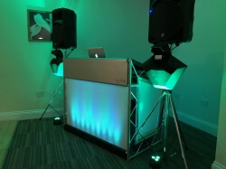 Silver Disco up lit in green at Mount Pleasant Golf Club