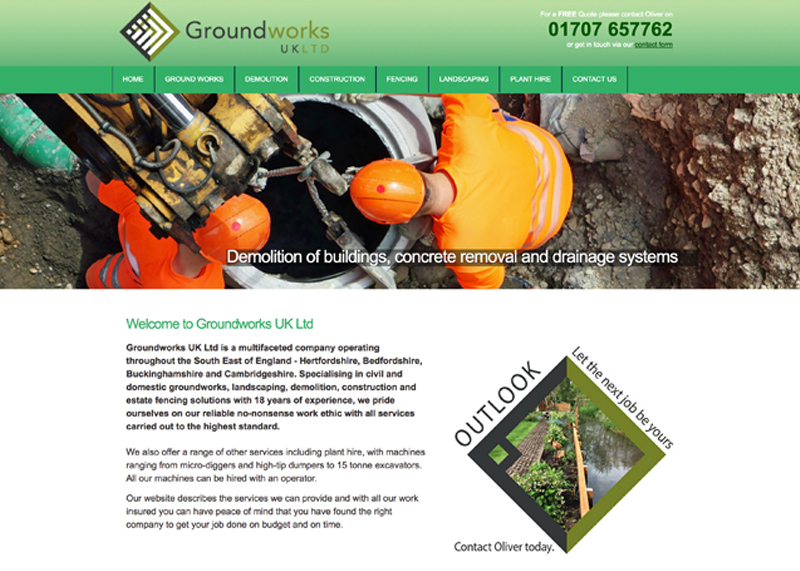 Brand Identity & development of a website for Groundworks UK