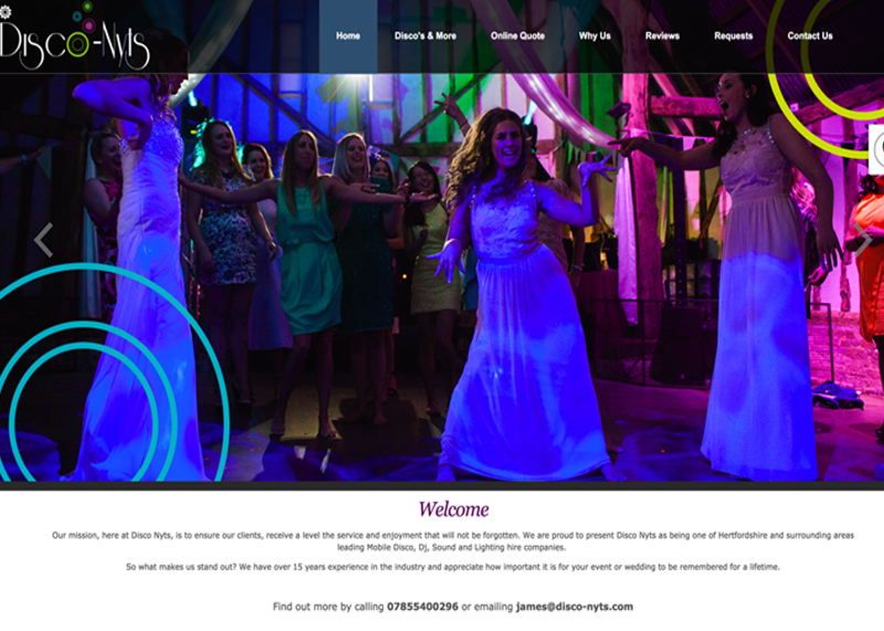 Social media campaign and website for Disco-Nyts.