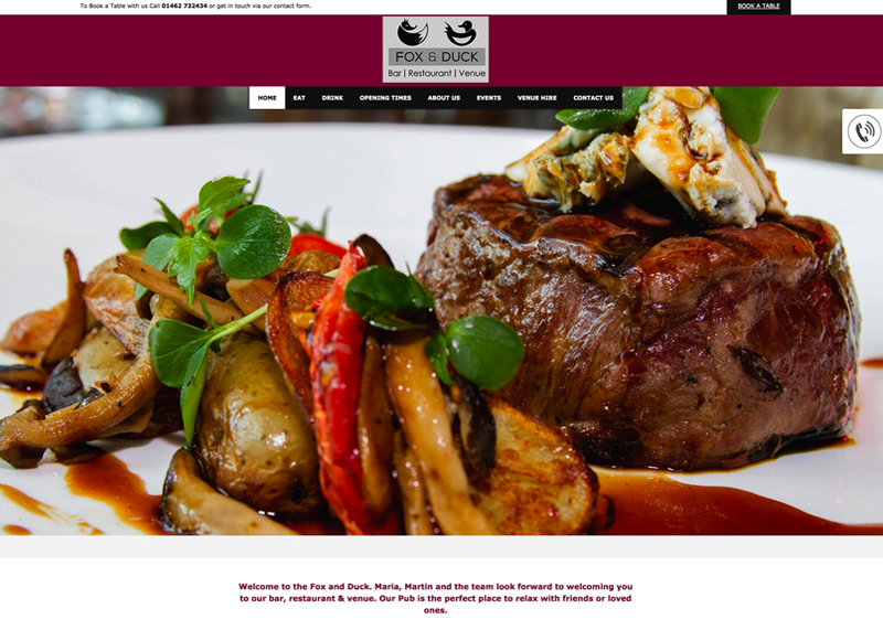 New mobile responsive website for Fox & Duck, Stotfold