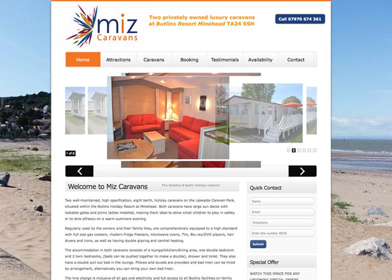 New Logo and website design for Miz Caravans