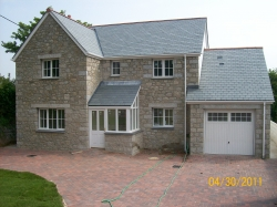 New property constructed , brick paviers to driveway