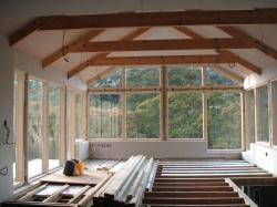 Velfac windows fitted , ceilings plasterboarded
