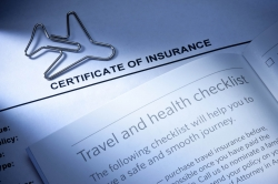 Travel insurance documents.