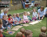 Children engaging in a group activity