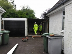 Demolition of Garage and Removal of Concrete Base